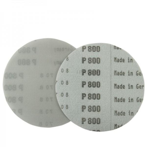 RHODIUS Ø77mm Folienscheibe, P800-3000, Aluminiumoxid, Klett, hochreißfest