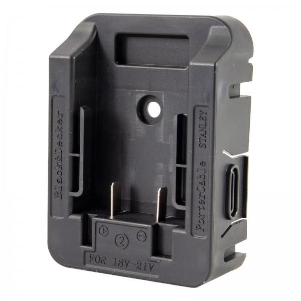 Adapter Akku Black & Decker PorterCable Stanley für TITAN LED Arbeitsleuchte