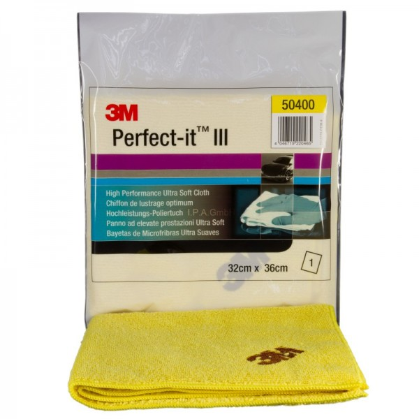 3M PERFECT-IT III Ultrafina Anti Hologramm Poliertuch gelb 50400