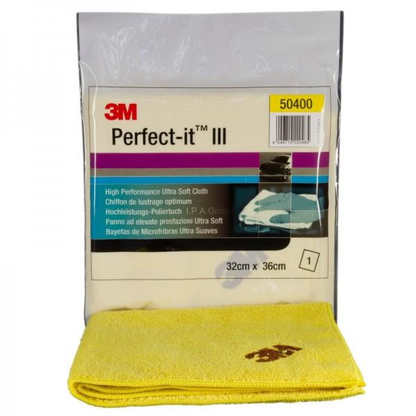 3M PERFECT-IT III Ultrafina Anti Hologramm Poliertuch gelb 50400