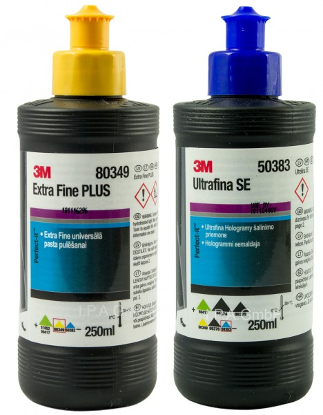 Politur-Set 3M 80349 + 3M 50383 Anti Hologramm Ultrafina & Extra Fine Plus