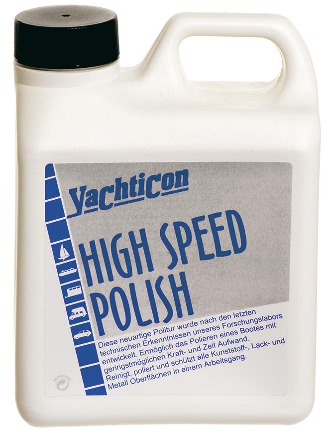 yachticon bootspolitur high speed polish 1000 ml f r kunststoff wachs versiegelung. Black Bedroom Furniture Sets. Home Design Ideas