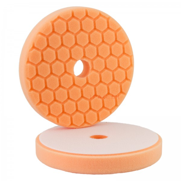 Polierpad Hexagon L 150/160 orange schleifen cut 2