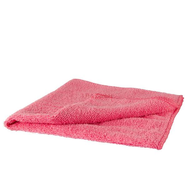 Premium Poliertuch Microfaser rosa Wachs Versiegelung