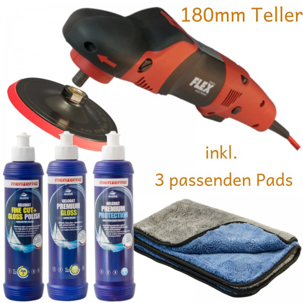 Bootpolierer Basic-Set Flex PE 14-2 & Menzerna Boote & Caravan