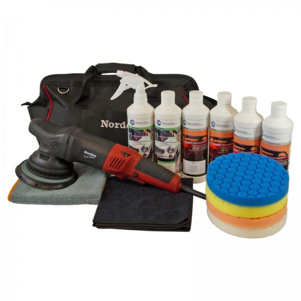 Aufbereitung und Lackpflege Set inklusive Exzenter Poliermaschine NDA21