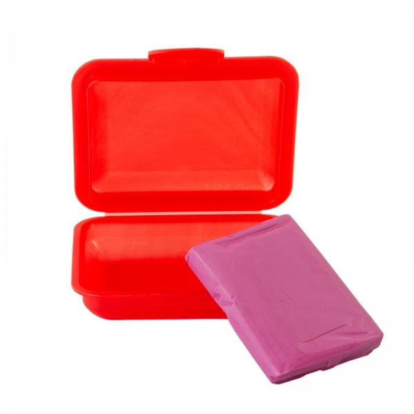 Reinigungsknete Polierknete Rot scharf mit Box