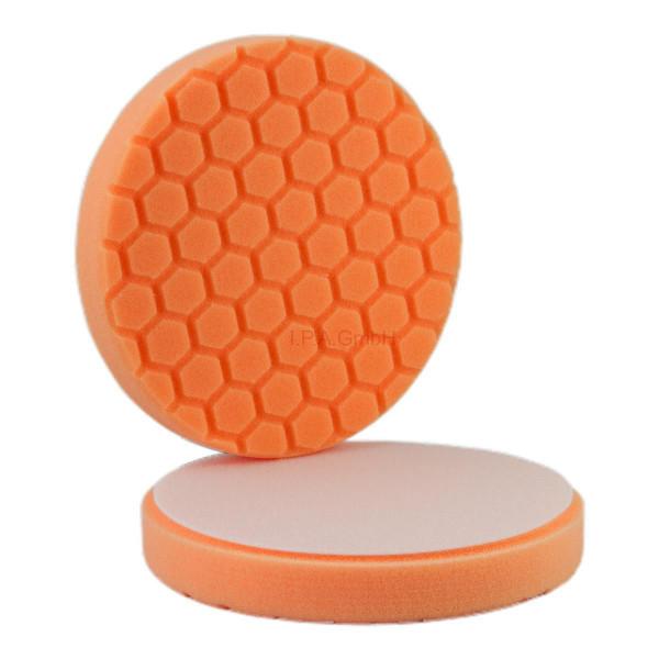 Polierschwamm Hexagon 150/160 orange schleifen cut 2