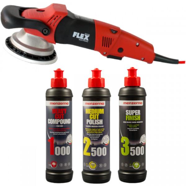 Flex XC 3401 VRG Exzenter-Poliermaschine | Komplettset Menzerna Polituren
