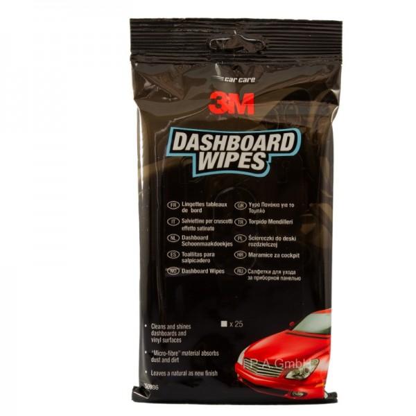 3M Dashboard Wipes Pflegetuch - Kunststoff Pflegetücher 25 Stück