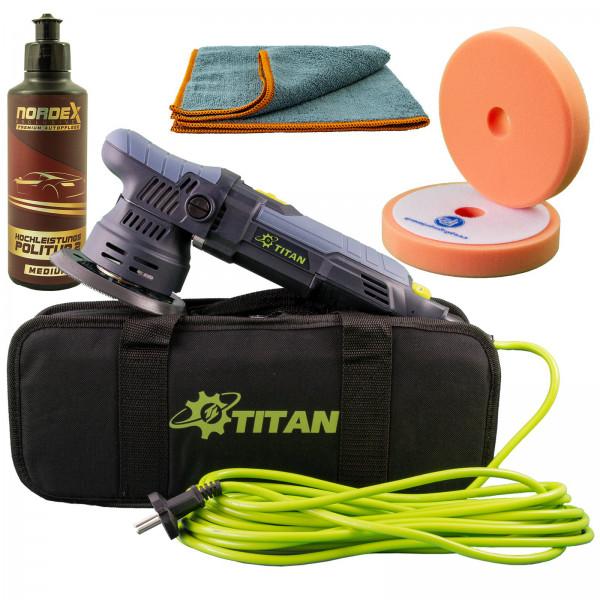Sonder-Preis | 9mm Hub | Titan TDA09 | 125mm Teller | Exzenter-Poliermaschine + Polierset