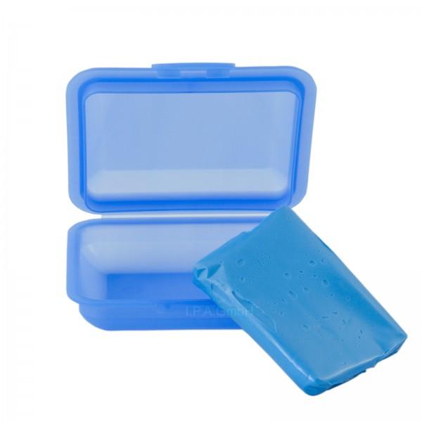 Reinigungsknete Polierknete Blau mild mit Box
