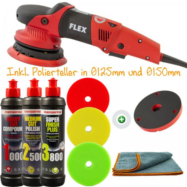 Flex XFE 7-15 150   PP-Pads DC-GL165   Menzerna Polier Kit