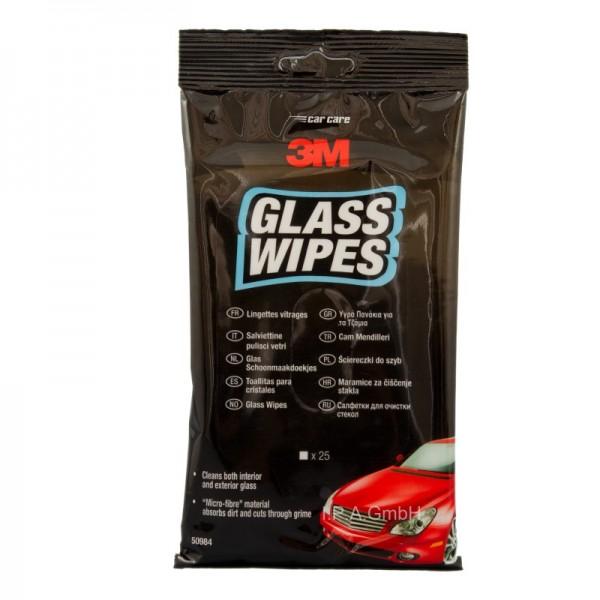 3M Glass Wipes Pflegetuch - Glas Reinigungstücher 25 Stück