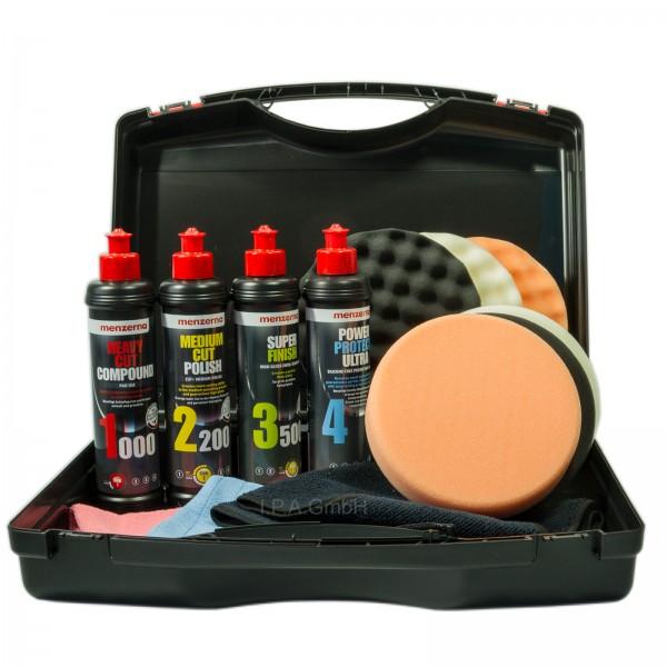 Menzerna Set Aufbereitung Politur Versiegelung Zubehör im Koffer