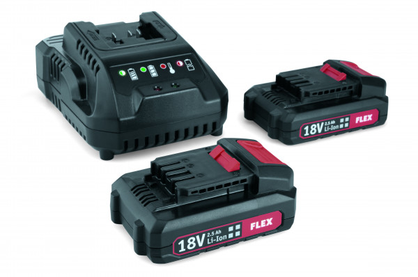 Flex Akku Ladegerät Power 22Q mit 2 Akku Packs 491357